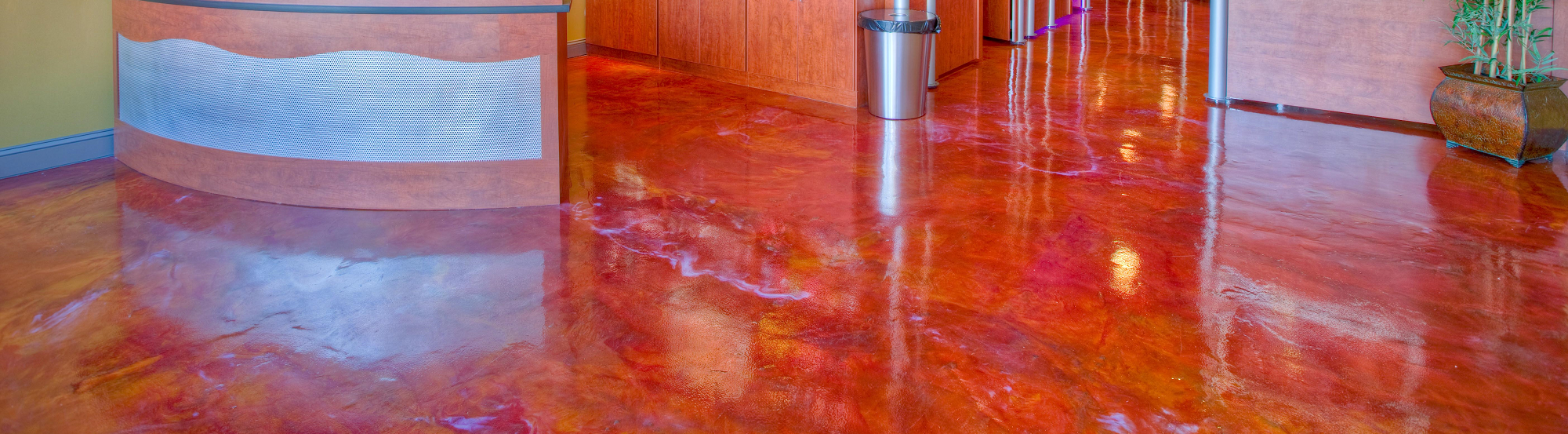 Decorative Concrete Salon Floor